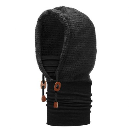 Buff Polar Thermal Hoodie Solid Black