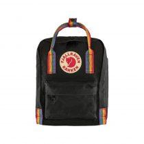Fjallraven Kanken rainbow mini hátizsák-black
